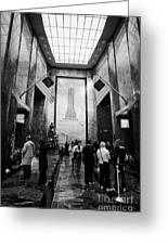 Foyer Of The Empire State Building New York City Greeting Card by Joe Fox