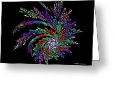 Fractal 4 Greeting Card by Mikki Cucuzzo