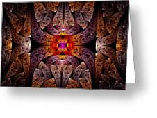 Fractal - Aztec - The Aztecs Greeting Card by Mike Savad