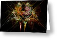 Fractal - Christ - Angels Embrace Greeting Card by Mike Savad