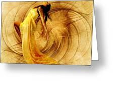 Fractal Dance Of Joy Greeting Card by Gun Legler