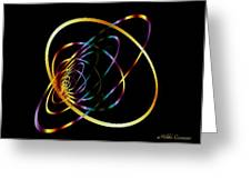 Fractal Hoops Greeting Card by Mikki Cucuzzo