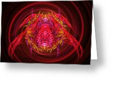 Fractal - Insect - Jeweled Scarab Greeting Card by Mike Savad