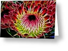 Fractal Protea Greeting Card by Michael Durst
