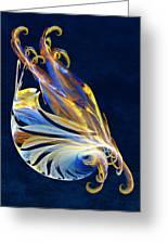 Fractal - Sea Creature Greeting Card by Susan Savad