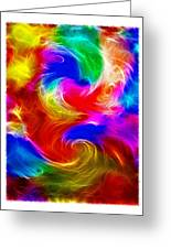 Fractal Turbulence Greeting Card by Steve Ohlsen