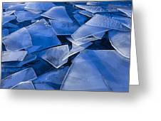 Fractured Surface Ice Drifted To The Greeting Card by John Hyde