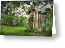 Fragrant Outhouse Greeting Card by Lori Deiter