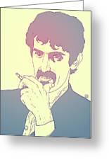 Frank Zappa Greeting Card by Giuseppe Cristiano