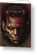 Frankenstein  Greeting Card by David Shumate