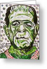 Frankenstein Greeting Card by Kathy Marrs Chandler