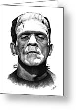 Frankensteins Monster Greeting Card by Christian Klute