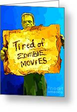 Frankenstein's Monster Turns Activist Greeting Card by John Malone