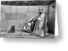 Franklin Delano Roosevelt Memorial Greeting Card by Allen Beatty
