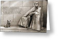 Franklin Delano Roosevelt Memorial - Bits and Pieces 7 Greeting Card by Mike McGlothlen