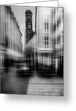 Frauenkirche - Muenchen V - Bw Greeting Card by Hannes Cmarits