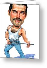 Freddie Mercury Greeting Card by Art