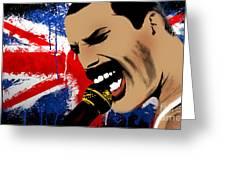 Freddie Mercury Greeting Card by Mark Ashkenazi