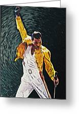 Freddie Mercury Greeting Card by Taylan Soyturk