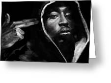 Free Will - 2 Pac Greeting Card by Reggie Duffie