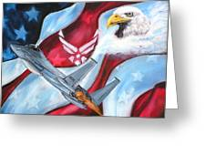 Freedom Eagles Greeting Card by Dan Harshman