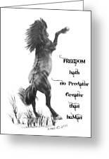 Freedom Greeting Card by Marianne NANA Betts