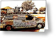 Freedom Of Speech On Wheels Greeting Card by Desiree Paquette
