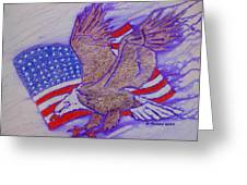 Freedom Reigns Greeting Card by Mark Schutter