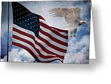 Freedom Greeting Card by Scott Pellegrin