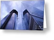 Freedom Tower Ground Zero New York City Greeting Card by Sabine Jacobs