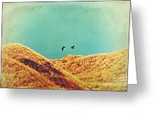 Freedom Vintage Greeting Card by Angela Doelling AD DESIGN Photo and PhotoArt