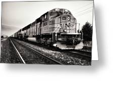 Freight Train Greeting Card by Tom Druin
