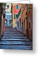 French Alley Greeting Card by Inge Johnsson