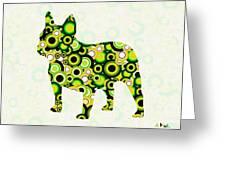 French Bulldog - Animal Art Greeting Card by Anastasiya Malakhova
