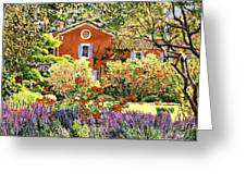 French Countryside House Greeting Card by David Lloyd Glover