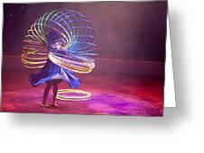 French Hula Hooping Greeting Card by Matthew Bamberg