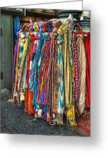 French Market Scarves Greeting Card by Brenda Bryant