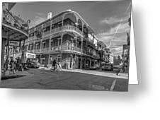 French Quarter Afternoon Bw Greeting Card by Steve Harrington