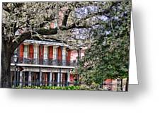 French Quarter Spring Greeting Card by Olivier Le Queinec