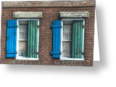 French Quarter Windows Greeting Card by Brenda Bryant