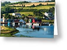 French River Greeting Card by Matt Dobson