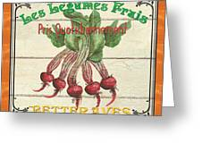 French Vegetable Sign 4 Greeting Card by Debbie DeWitt