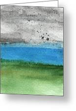 Fresh Air- Landscape Painting Greeting Card by Linda Woods