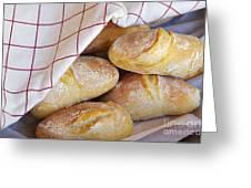 Fresh Bread Greeting Card by Carlos Caetano