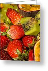 Fresh Fruit Salad Greeting Card by Tomi Junger