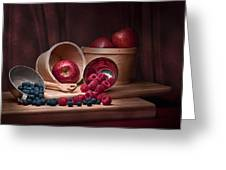 Fresh Fruits Still Life Greeting Card by Tom Mc Nemar