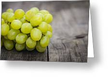 Fresh Green Grapes Greeting Card by Aged Pixel