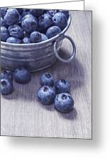 Fresh Picked Blueberries With Vintage Feel Greeting Card by Edward Fielding