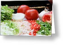 Fresh Vegetables Greeting Card by Oscar Gutierrez