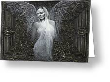 Frida Guardian Of The Arts Greeting Card by Lorena Rivera